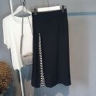Pleated Panel Long Skirt 1596