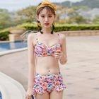 Set: Crochet Top + Floral Bikini 1596