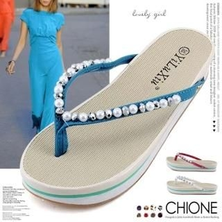 Buy Chione Beaded Flip-Flops 1022970218