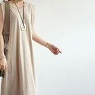V-Neck Sleeveless Long Dress 1596