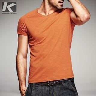 Short-Sleeve V-neck T-shirt 1052865282