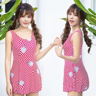Image of Check Swim Dress