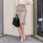 Ruffle Pencil Skirt 1596