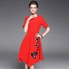 Short-Sleeve Sequined Dress 1596