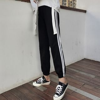 Contrast Trim Sweatpants 1062685990