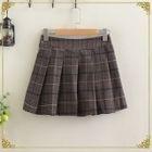 Check Pleated Mini Skirt 1596