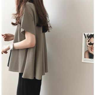 Boat-Neck A-Line Knit Top 1066193014
