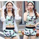 Set: Print Tankini + Light Jacket 1596