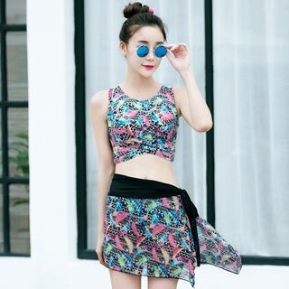 Set: Printed Tankini + Skirt 1058169847