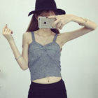 Strappy Knit Top Gray - One Size от YesStyle.com INT