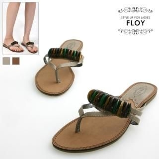 Buy FLOY SHOES Bead-Accent Thong Sandals 1023053840