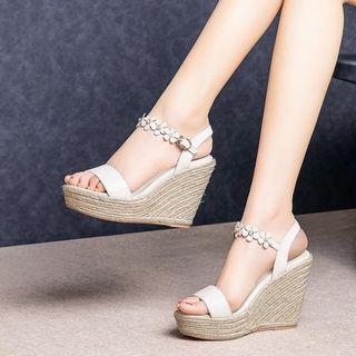 Platform   Leather   Sandal   Wedge