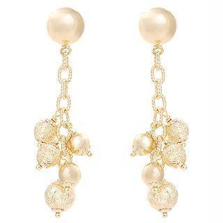 18K Yellow Gold Earrings picture