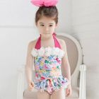 Kids Set: Floral Swim Top + Swim Bottom 1596