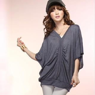 Buy Tokyo Fashion Dolman-Sleeve Ruched Knit Top 1022763680