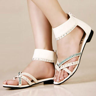 Buy Kvoll Rhinestone Ankle-Strap Sandals 1022979475