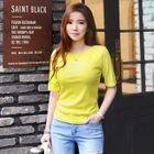Short-Sleeve Ribbed Slim-Fit T-Shirt 1596