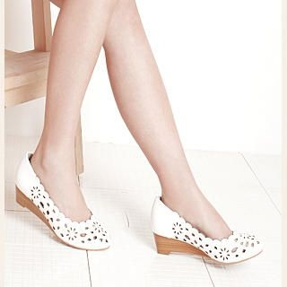 Buy KAWO Perforated Wedge Pumps 1022892783