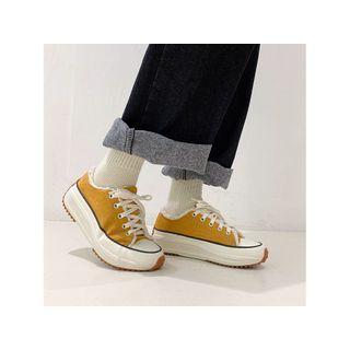 Fleece-lined Platform Sneakers
