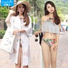 Set: Ruffle Bikini + Light Jacket 1596
