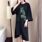 Loose-Fit Sequined T-Shirt Dress 1596