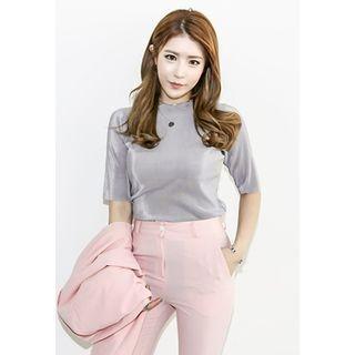 Short-Sleeve Ribbed T-Shirt 1057673159