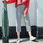 Striped Straight-Leg Pants 1596