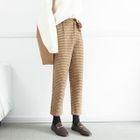 Plaid Wool Harem Pants 1596