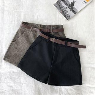 High-waist | Cargo | Short | Belt