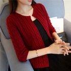 Rib knit Cardigan 1596
