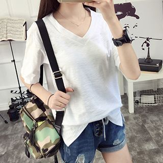 V-neck Short-Sleeve T-shirt 1049934501