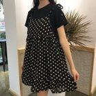 Polka Dot Shoulder-Tie Minidress 1596