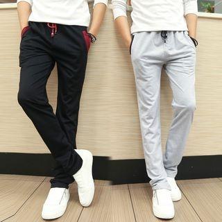 Contrast Trim Sweatpants 1053850873