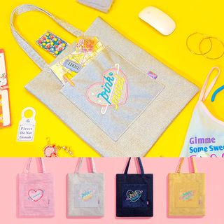 Letter Embroidered Tote Bag 1064644360