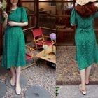 Tie-Waist Polka-Dot Dress 1596