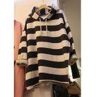 Stripe Hoodie Dress 1596