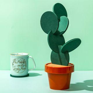 Image of Cactus Coaster Green - One Size
