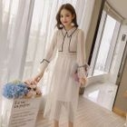 Set: Long-Sleeve Sheer Dress + Strappy Dress 1596