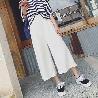 Cropped Wide Leg Pants 1049820660