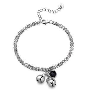 left-right-accessory-925-sterlign-silver-balls-onyx-double-chain-bracelet-65-women-jewellery