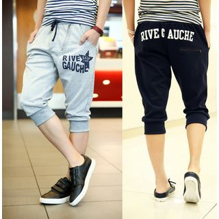 Lettering Cropped Sweatpants