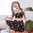 Set: Floral Print Tankini Top + Swim Skirt 1596