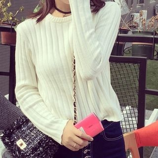 Long-Sleeve Rib Knit Top 1055071105