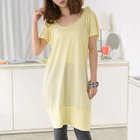 Short-Sleeve Frilled-Trim T-Shirt Dress 1596