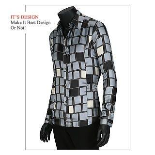 Buy Dirk Lui Square Printed Shirt 1021381250
