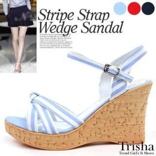 Buy Trisha Canvas Wedge Sandals 1022922259