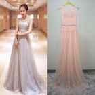 Sleeveless A-Line Lace Evening Gown 1596