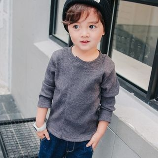 Kids Ribbed Long-Sleeve T-Shirt 1061428708