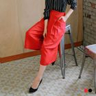 Pleated Woven Culottes 1596