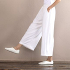 Linen Wide Leg Pants 1596